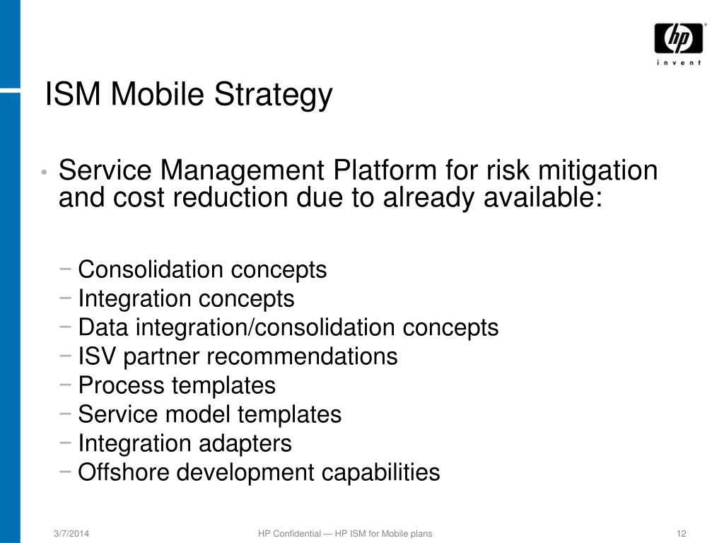 ISM Mobile Strategy