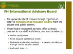 fh international advisory board