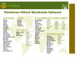fleishman hillard worldwide network