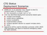 ctg status deployment scenarios