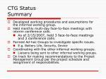 ctg status summary