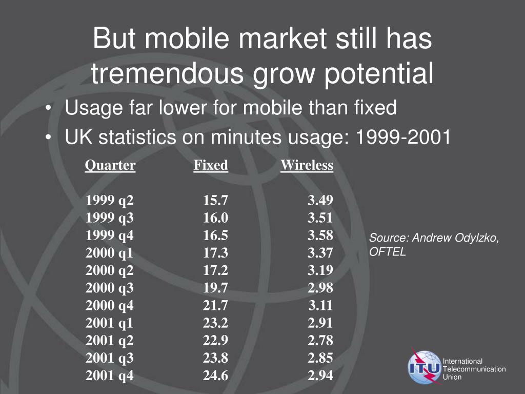 But mobile market still has tremendous grow potential