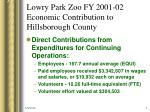 lowry park zoo fy 2001 02 economic contribution to hillsborough county2