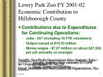 lowry park zoo fy 2001 02 economic contribution to hillsborough county3