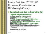 lowry park zoo fy 2001 02 economic contribution to hillsborough county5
