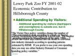 lowry park zoo fy 2001 02 economic contribution to hillsborough county7