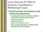 lowry park zoo fy 2001 02 economic contribution to hillsborough county9
