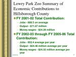 lowry park zoo summary of economic contributions to hillsborough county1