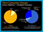 more consumer choices every platform multiple providers