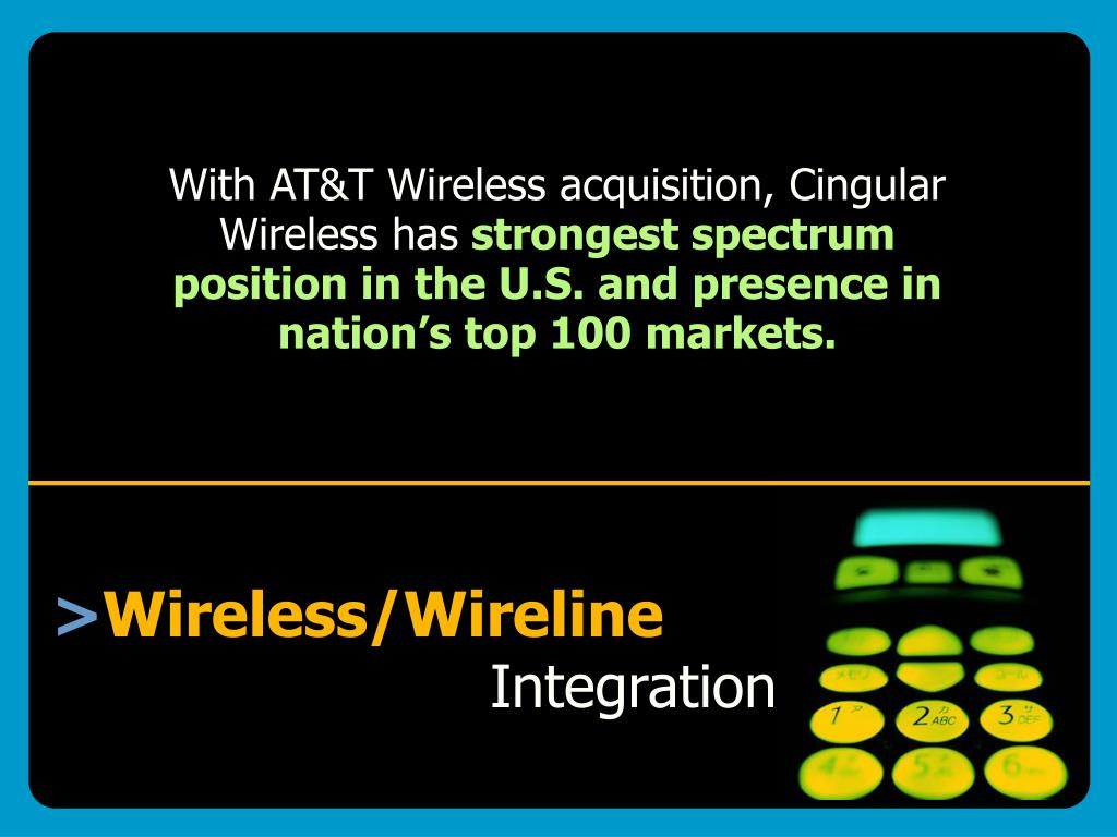 With AT&T Wireless acquisition, Cingular Wireless has