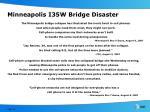 minneapolis i35w bridge disaster