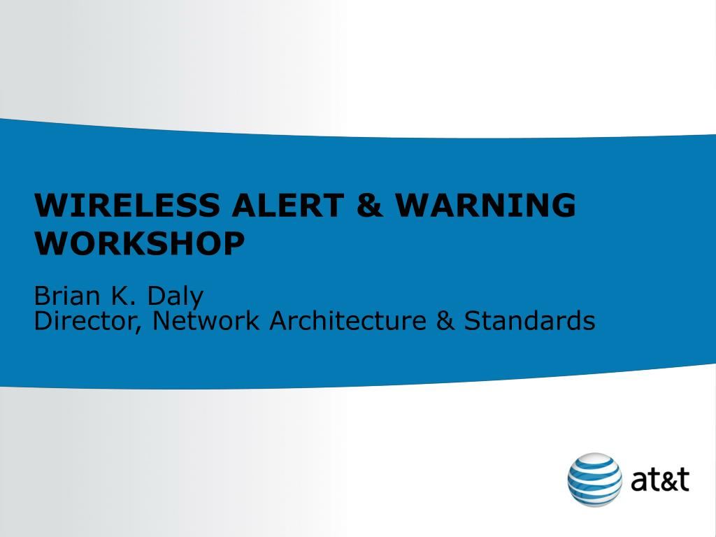 wireless alert warning workshop l.