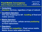 fixed mobile convergence different meaning from different views