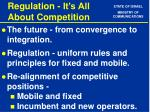 regulation it s all about competition