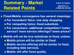 summary market related points
