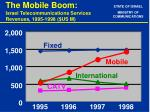 the mobile boom israel telecommunications services revenues 1995 1998 us m