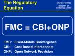 the regulatory equation