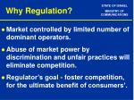 why regulation