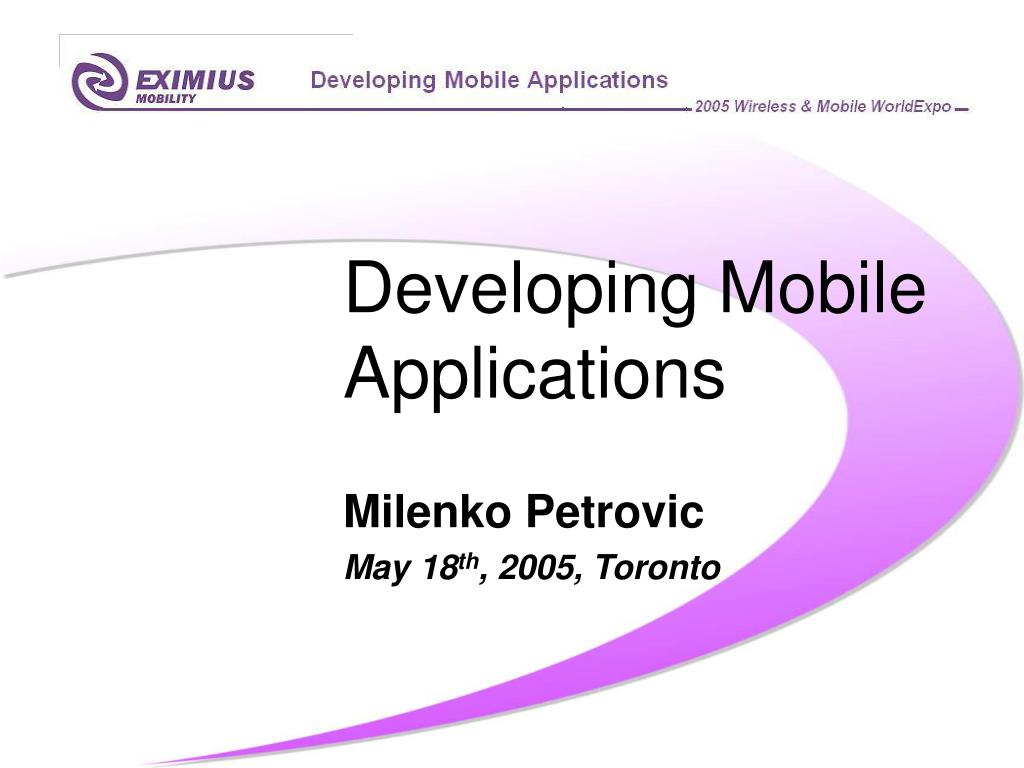 developing mobile applications l.