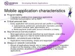 mobile application characteristics