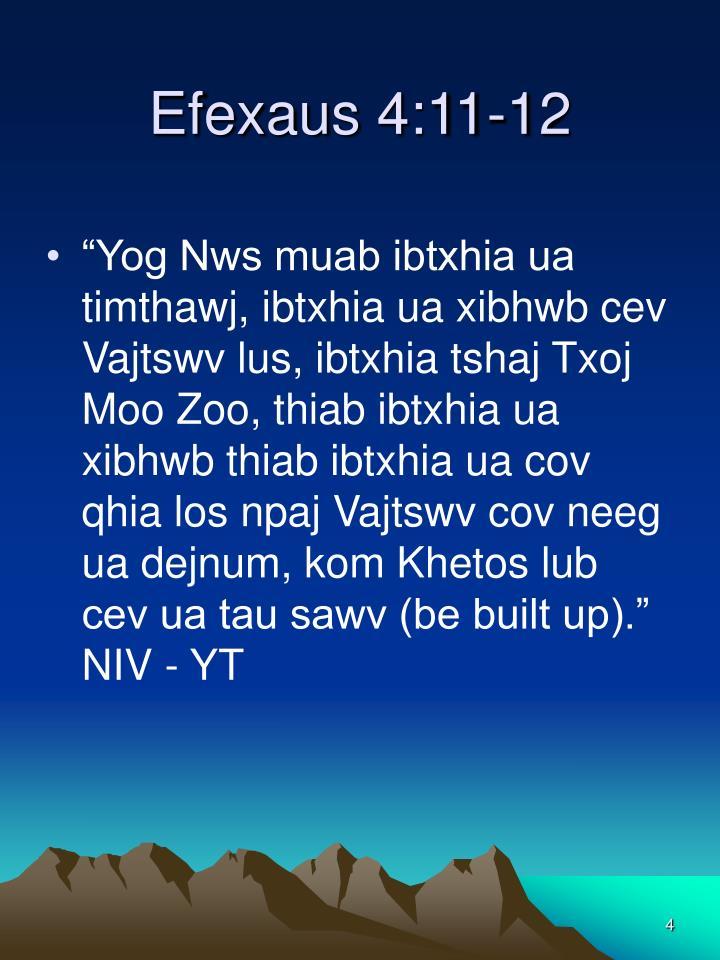 Efexaus 4:11-12