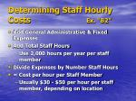 determining staff hourly costs ex b2