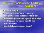 statement of financial position exhibit f