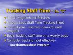 tracking staff time ex c