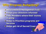 why program budgeting
