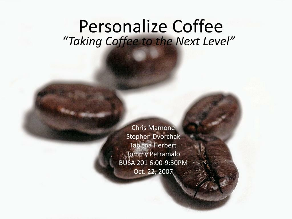 personalize coffee l.