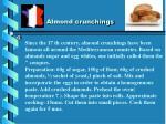 almond crunchings