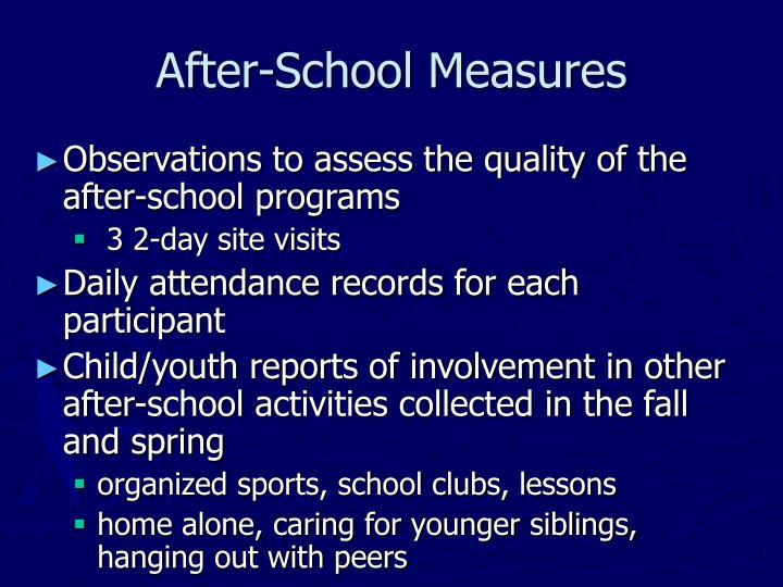 After-School Measures