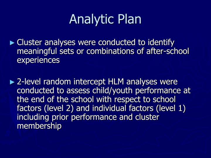 Analytic Plan