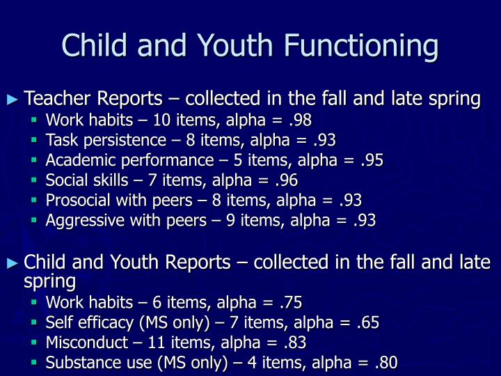 Child and Youth Functioning