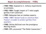 major accomplishments 1980s