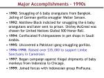 major accomplishments 1990s