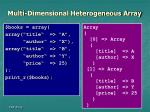 multi dimensional heterogeneous array