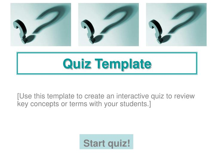 Ppt Quiz Template Powerpoint Presentation Free Download