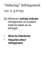 inducing infringement