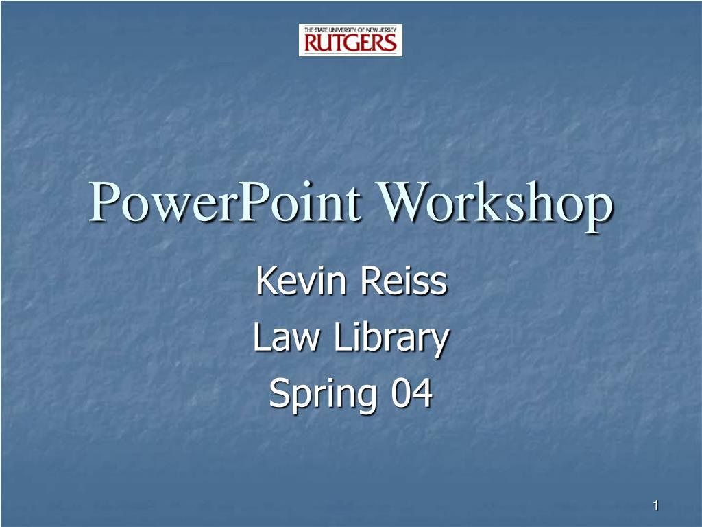 powerpoint workshop l.
