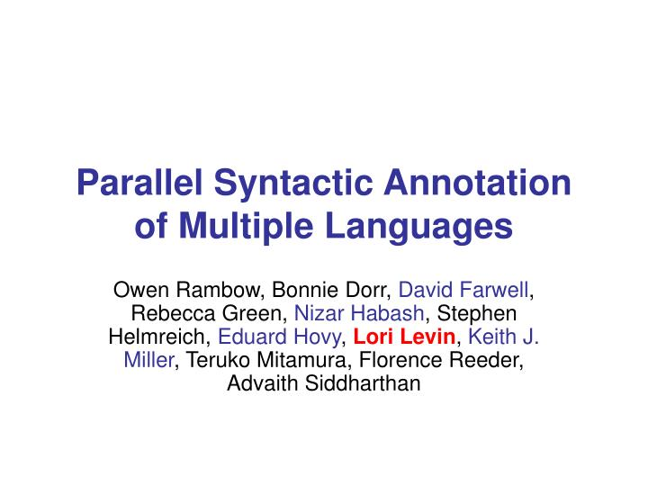 syntactic parallelism