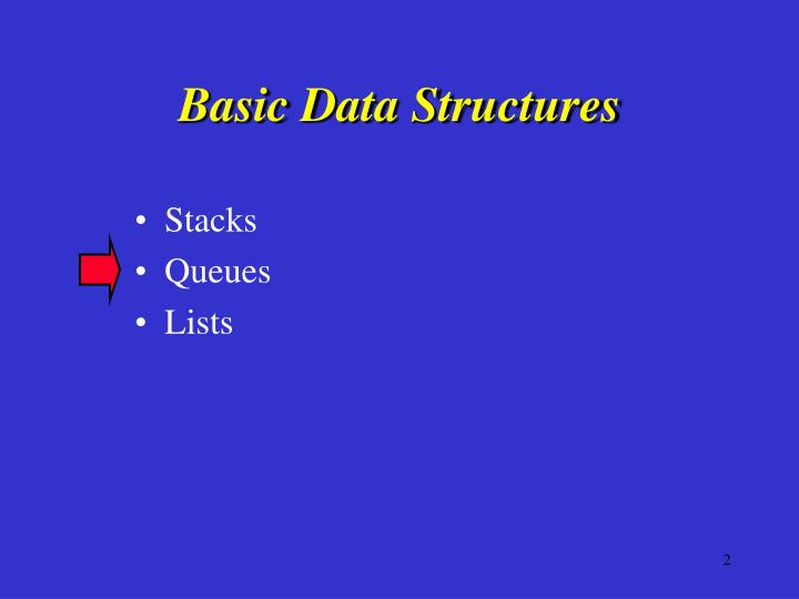 Basic data structures