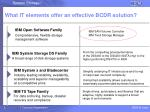 what it elements offer an effective bcdr solution