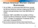african american women owned businesses