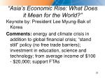 asia s economic rise what does it mean for the world