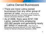 latina owned businesses