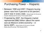 purchasing power hispanic