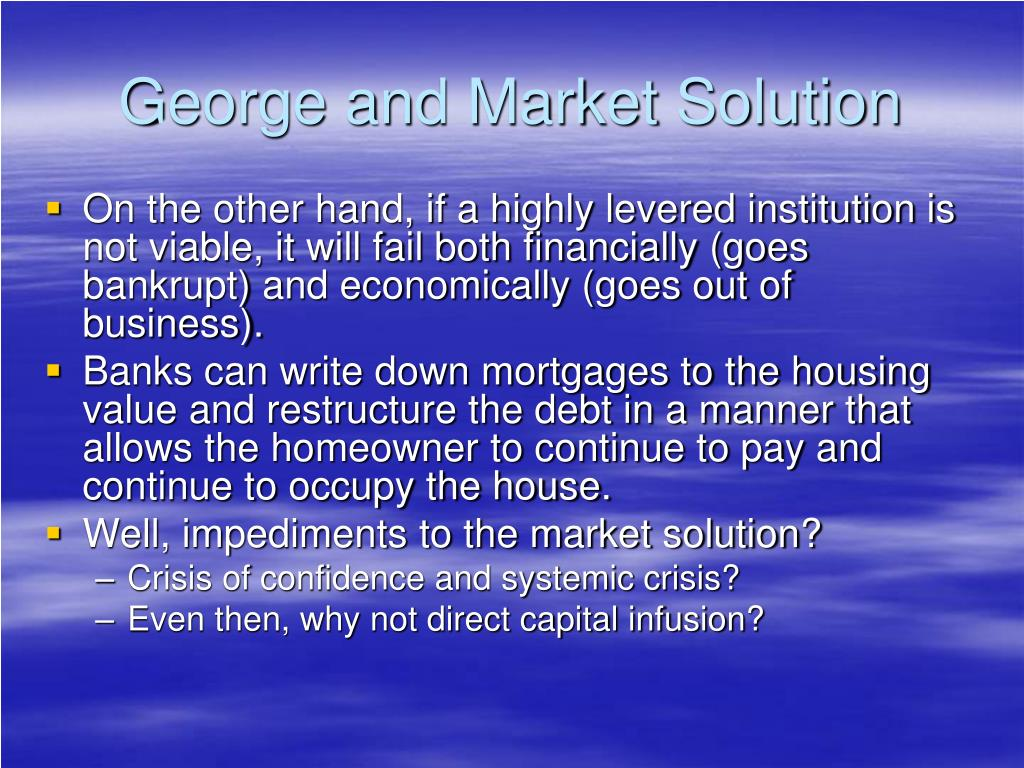 George and Market Solution