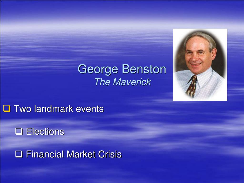 george benston the maverick l.