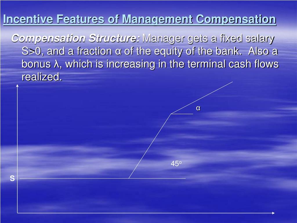 Incentive Features of Management Compensation